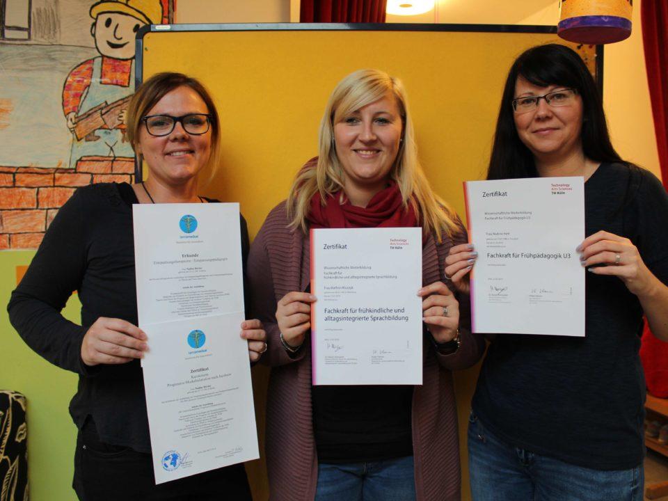 Zertifikate Kindergarten Pohlhausen
